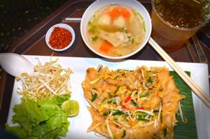 Soup, Pad Thai, Iced Tea - Yum Saap, Don Muang Airport, Bangkok