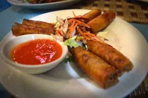 Spring Rolls / Cha Gio Tom - Thu Phuong Restaurant - Duong Dong, Phu Quoc, Vietnam