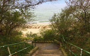 Stairs to Nordstrand Beach Wittow - Ruegen, Germany