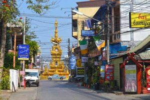 Clocktower from a Side Street - Chiang Rai
