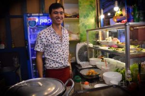 Friendly Service - Ben Thanh Streetfood Market - Ho Chi Minh, Vietnam