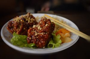 Korean Spicy Fried Chicken - Ben Thanh Streetfood Market - Ho Chi Minh, Saigon