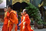Monks at the Temple - Chiang Rai, Thailand