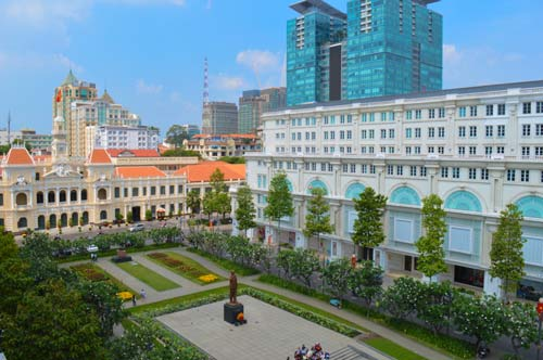 View from the Rex Hotel Rooftop Garden - Ho Chi Minh, Saigon, Vietnam