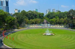 View of Ho Chi Minh City from Independence Palace, Vietnam