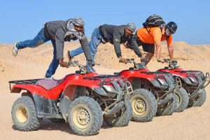 Goofing Around with the Quad Safari Guides from Serenity Makadi Bay, Egypt