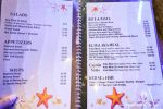 Menu Page from Alhalaka Fish Restaurant, Hurghada, Egypt