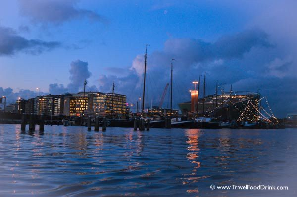 Amsterdam Harbor at Twilight
