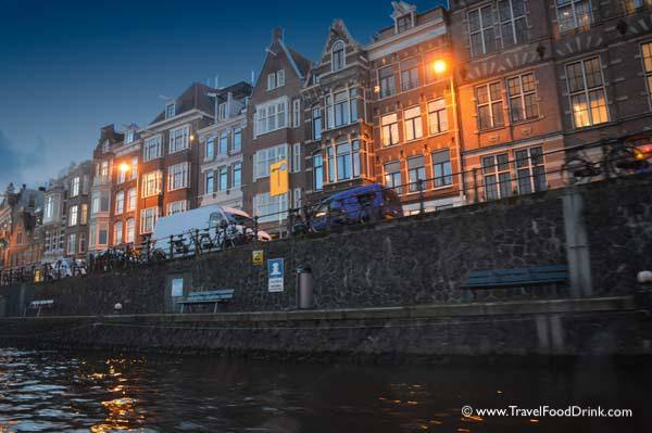 Evening View From the Canal - Amsterdam