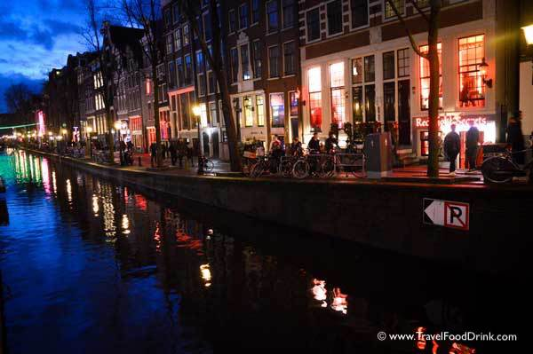 Red Light District by Night - Amsterdam