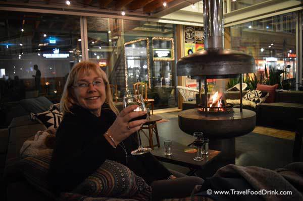 Relaxing at the Q Factory Hotel Cafe - Amsterdam