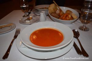 Tomato Cream Soup with Basil - Al Dente Restaurant, Egypt