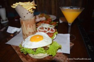 Cheeseburger & Fries with a Mango Granita - La Pan Nam, Canggu, Bali