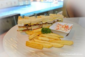 Club Sandwich with Fries - Yonne Cafe & Bar, Ubud