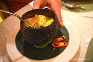 Creamy Coconut Chicken Soup - Yonne Cafe & Bar, SenS Hotel Ubud