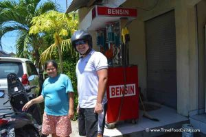 Filling Gas into our Motorbike - Canggu, Bali