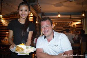 Friendly Server at La Pan Nam Restaurant - Canggu, Bali