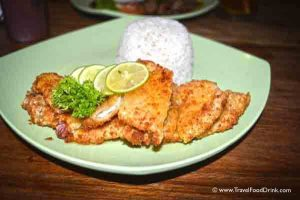 Deep Fried Chicken Fillet with Lemon Sauce - D'Medina Bistro Restaurant, Legian, Bali
