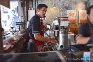 A Barista at Anomali Coffee in Ubud, Bali