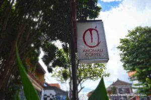 The Sign of Anomali Coffee, Ubud, Bali