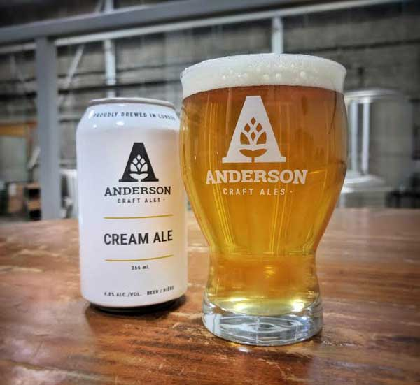 Anderson Cream Ale Beer - London, Ontario